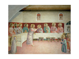 The Holy Communion and the Last Supper Giclée-tryk af  Fra Angelico