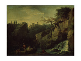 Romantic Landscape (Landscape in the Taste of Salvatore Ros), 1746 Giclee Print by Claude Joseph Vernet