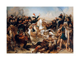 Bonaparte at the Battle of the Pyramids on July 21, 1798 Giclée-tryk af Antoine-Jean Gros