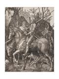 Knight, Death and the Devil Reproduction procédé giclée par Albrecht Dürer