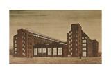 Aeg High Tension Factory, Berlin Giclee Print by Peter Behrens