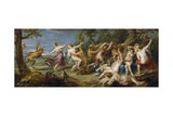 Diana and Her Nymphs Surprised by Satyrs, 1638-1640 Giclee Print