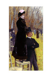 The Races at Auteuil Giclee Print by Giuseppe De Nittis