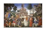 The Temptation of Christ, 1481-1482 Wydruk giclee autor Sandro Botticelli