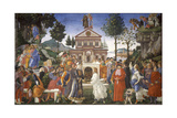 The Temptation of Christ, 1481-1482 Giclee Print by Sandro Botticelli