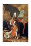 Portrait of Emperor Francis I of Austria (1708-176) Giclée-tryk af Anton von Maron