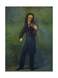 Portrait of Niccolò Paganini (1782-184), 1830-1831 Giclee Print by Georg Friedrich Kersting