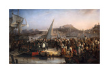 Napoleon Leaving the Island of Elba on February 26, 1815 Giclee Print by Joseph Beaume