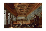 The Doge of Venice Giving Audience in the Sala Del Collegio in the Doge's Palace Giclee Print by Francesco Guardi