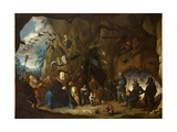 Luther in Hell Lámina giclée por Egbert van Heemskerk the Younger