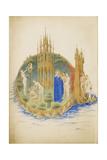 Garden of Eden (Les Très Riches Heures Du Duc De Berr) Giclee Print