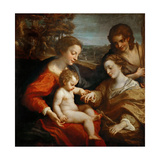 The Mystical Marriage of Saint Catherine Giclee Print by  Correggio
