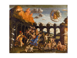 Minerva Expelling the Vices from the Garden of Virtue Giclee Print by Andrea Mantegna