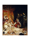 The Death of Elizabeth I, Queen of England Giclee Print by Paul Hippolyte Delaroche