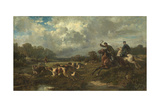 Grand Duke Vladimir Alexandrovich of Russia (1847-190) on a Wolf Hunt Giclee Print