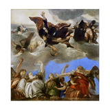 Saint Mark Rewarding the Theological Virtues Giclee Print by Paolo Veronese