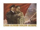 Glory to the Great October Leaders!, 1952 Giclee Print