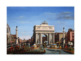 The Entry of Napoleon into Venice on the 29th of November 1807 Giclee Print by Giuseppe Borsato