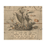 The Victoria, a Spanish Carrack, Ship of Ferdinand MagellanS Armada De Molucca Giclee Print by Abraham Ortelius