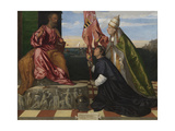 Jacopo Pesaro Being Presented by Pope Alexander VI to Saint Peter, 1506-1511 Giclee Print by  Titian (Tiziano Vecelli)
