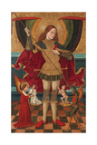 The Archangel Michael Weighing the Souls of the Dead Giclee Print by Juan de la Abadía the Elder