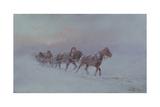 Snowstorm, 1901 Giclee Print by Nikolai Nikolayevich Karasin