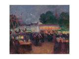 Night Fair at Saint-Pol-De-Léon Giclee Print by Ferdinand Loyen du Puigaudeau
