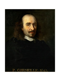 Portrait of Pierre Corneille (1606-168) Giclee Print by Charles Le Brun