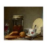 Jar of Apricots, 1758 Giclee Print by Jean-Baptiste Siméon Chardin