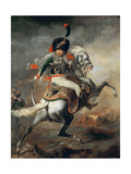 An Officer of the Imperial Horse Guards Charging Giclee Print by Théodore Géricault