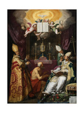The Four Fathers of the Latin Church Lámina giclée por Abraham Bloemaert