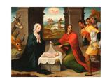 The Adoration of the Shepherds Giclee Print by Juan Correa de Vivar