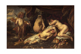 Amor and Psyche Giclee-trykk av Jacob Jordaens