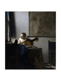 Woman with a Lute Giclee Print