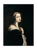 Portrait of Queen Christina of Sweden (1626-168), C. 1650 Giclee Print by David Beck