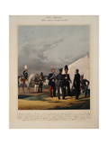Pioneers, Invalides and Gendarmes of the Imperial Guards Corps, 1867 Giclee Print by Karl Karlovich Piratsky