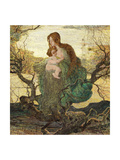 The Angel of Life Giclee Print by Giovanni Segantini