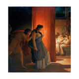 Clytemnestra Hesitates before Killing the Sleeping Agamemnon Giclee Print by Pierre Narcisse Guérin