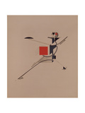 The New. Figurine for the Opera Victory over the Sun by A. Kruchenykh, 1920-1921 Giclée-trykk av El Lissitzky