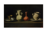 Still Life with Four Vessels Giclee Print by Francisco de Zurbarán