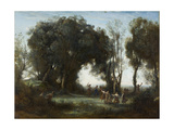 A Morning. the Dance of the Nymphs, 1850 Giclee Print by Jean-Baptiste Camille Corot