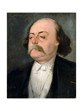 Portrait of Gustave Flaubert (1821-188) Giclee Print by Pierre François Eugène Giraud
