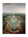 General View of the Chateau and Gardens at Marly, around 1724 Giclee Print by Pierre-Denis Martin II