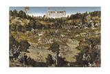 Hunt in Honour of Emperor Charles V at Torgau Castle Impression giclée par Lucas Cranach the Elder