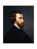 Portrait of Alfred De Musset (1810-185) Giclee Print by Charles Landelle