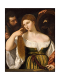 Young Woman Giclée-tryk af  Titian (Tiziano Vecelli)
