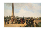 Lifeguards Regiment on the Connetable Square in Gatchina Giclee Print by Gottfried Willewalde