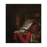 Still Life with Musical Instruments and Books Giclee Print by Jan Vermeulen