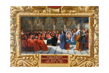 Philip IV the Fair Establishes the Parliament in Paris in 1303 Giclee Print by Jean Alaux