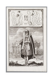 Jewish Man, Dressed for Prayer. on the Background the Portuguese Synagogue of Amsterdam Giclee Print